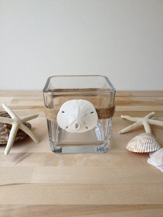 coastal beach inspired sand dollar glass tea by FantaSeaShells, $5.00