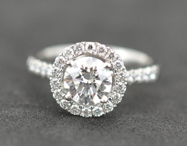 1.18 Carat Halo (0.82ct principle diamond) #giacertified #Engagment #PlatinumCork #BespokeCork