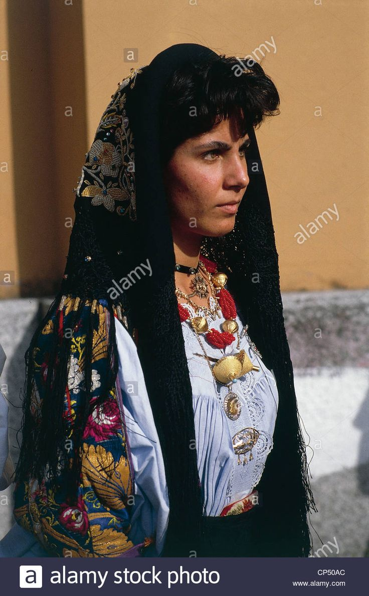 Sardinia - Fonni (Nu) - Feast of St. John the Baptist woman in traditional costume. - CP50AC from Alamy's library of millions of high resolution stock photos, illustrations and vectors.