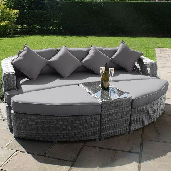 maze rattan toronto garden daybed in grey for only 849 rattan grey