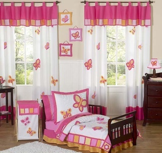 Butterfly Pink & Orange #Toddler #Bedding Set by JoJo Designs TinyTotties.com