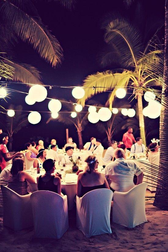 Great Gatsby Destination Fiji Wedding.   Beach wedding ceremony idea follow my board for more fiji wedding ideas