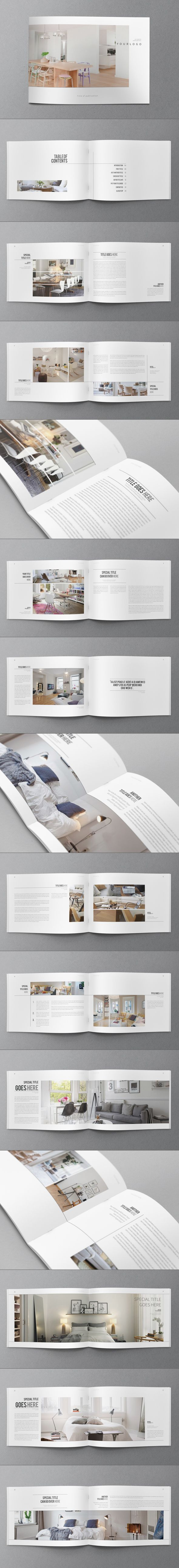 Minimal Interior Design Brochure on Behance