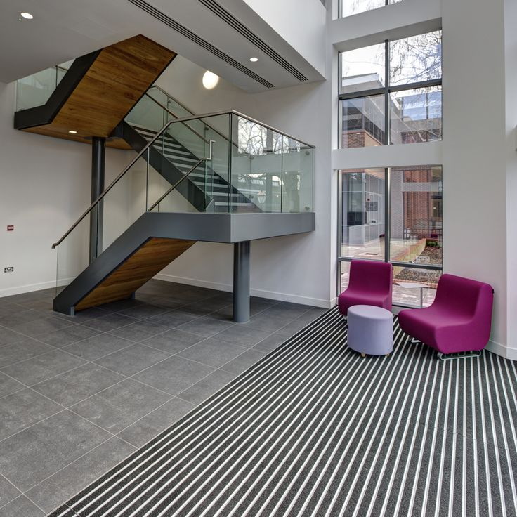 Grey were appointed by Fespa to deliver their new HQ office in Dorking. The Interior fit-out was medium specification design with glazed partitioning, bespoke joinery, feature flooring, feature wall graphics, AV supply, power and data infrastructure, general furniture supply and move management.