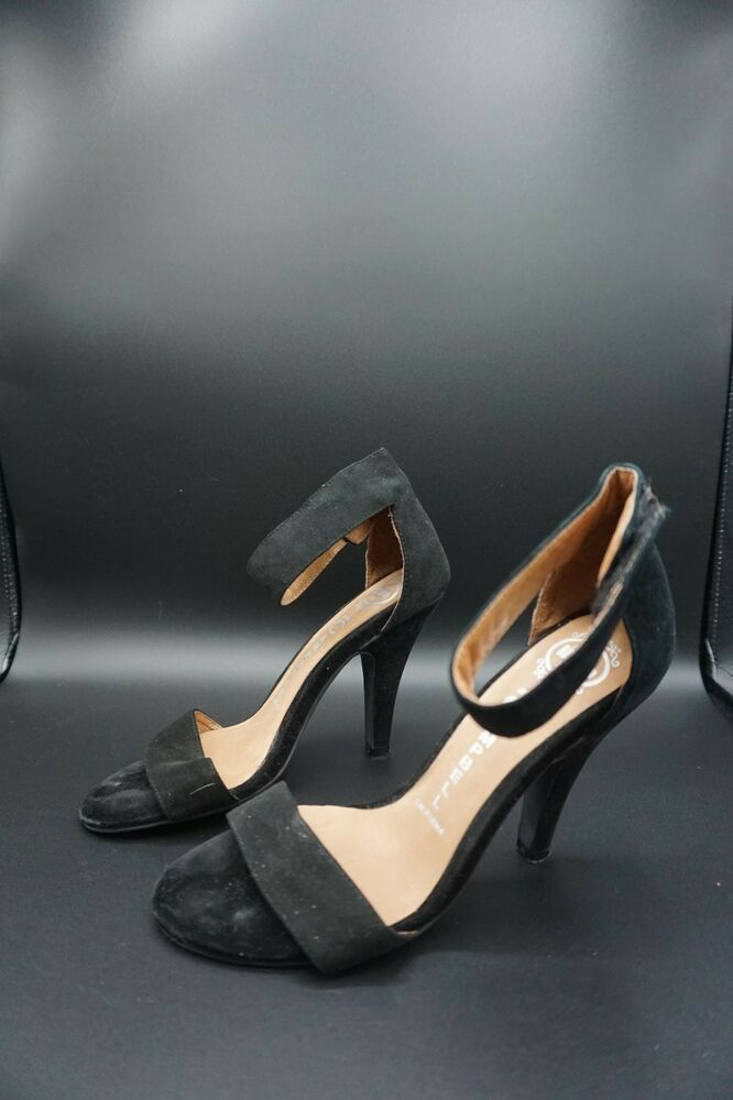 9b6c5bfa61bb4 Jeffrey Campbell 'Ibiza Last' Ankle Strap Suede Heels Women's 7 ...
