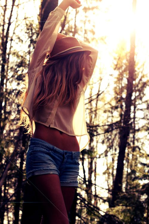 : Hats, Summer Fashion, Style, Fedoras, Cute Hair, Cute Summer Outfits, Denim Shorts, Jeans Shorts, Summer Clothing