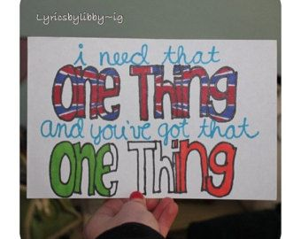 1D does have that one thing :)
