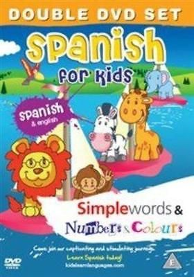 Spanish for Kids - Simple Words & Numbers & Colors (PAL Format Region 2) DVD VG#