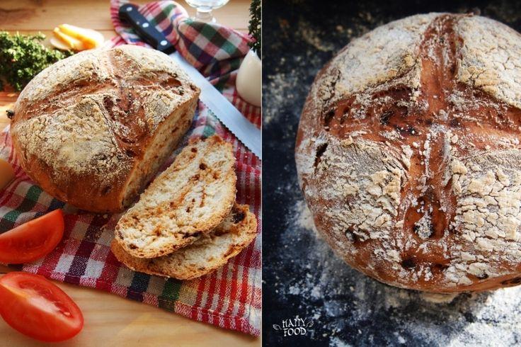Хлеб из цельнозерновой муки на овсяном молоке с тимьяном и вялеными томатами
