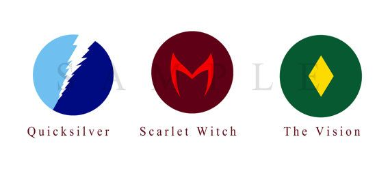 Marvel Quicksilver Scarlet Witch and The Vision by StudioFliff