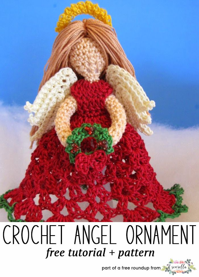Crochet this easy angel amigurumi character christmas ornament from my free crochet christmas ornaments roundup!
