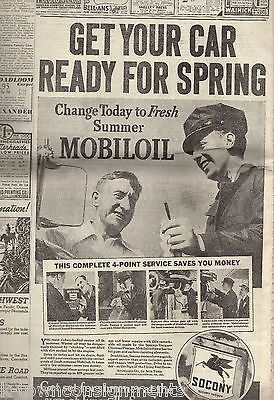 JOE LOUIS & SCHMELING HITLER BIRTHDAY PARADE MINE RESCUE NY TIMES NEWSPAPER 1936