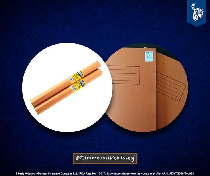 Wrapping school books in brown paper, to prevent tears on book edges was being Zimmedar. #ZimmedariKeKissey