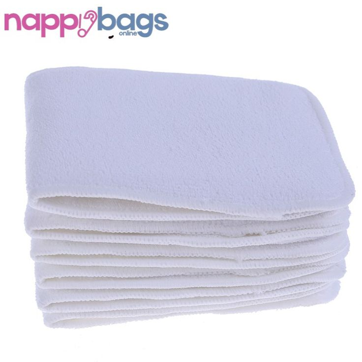 Deluxe 10 Piece Reusable Tri-Layer Microfiber Cloth Nappy Inserts //Price: $26.75 & FREE Shipping //     #parenting