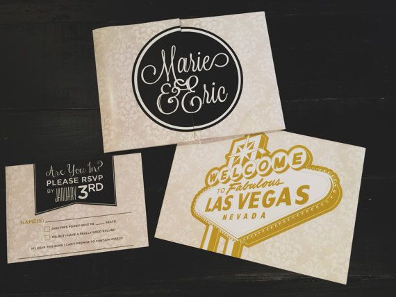 73 best Las Vegas Wedding Invitations images on Pinterest