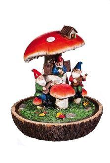 Gnome Duet Lighted Mushroom Tavern - EXCLUSIVE
