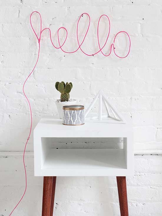 It doesn't get any cuter than this. This easy-peasy party memo from I Spy DIY comes together in a snap thanks to a hot-pink rope light and some wall tacks. Yep, we'll keep this one up year-round.