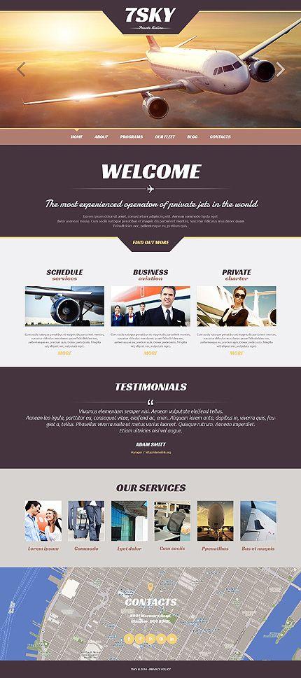 Template 48422 - Airline Company  Responsive WordPress  Theme