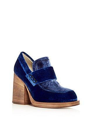 1a6f65be867 Marni Women s Mocassino Velvet Block Heel Loafers
