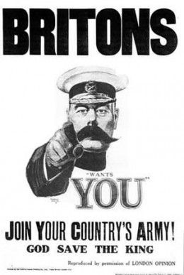 "Britain's ""New Army"" was an army of volunteers organized by Secretary of State for War Lord Kitchener. The first time New Army divisions fought was at the Battle of Loos. It didn't go well."