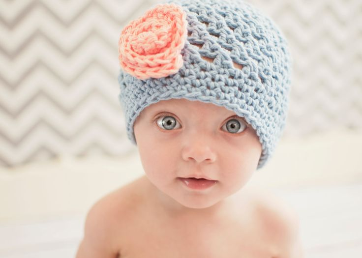 baby girl hat baby hat crochet baby hat by VioletandSassafras, $18.00