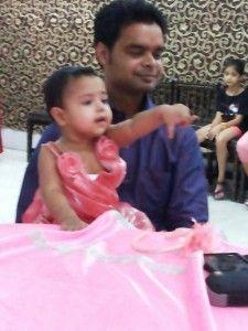 Prashi with Dad