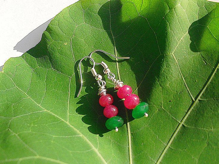 Rubin - Ohrringe Rubin und Jade - ein Designerstück von flowerring bei DaWanda
