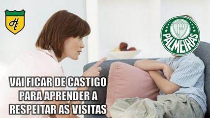 Goleada do Palmeiras sobre o São Paulo vira piada; veja
