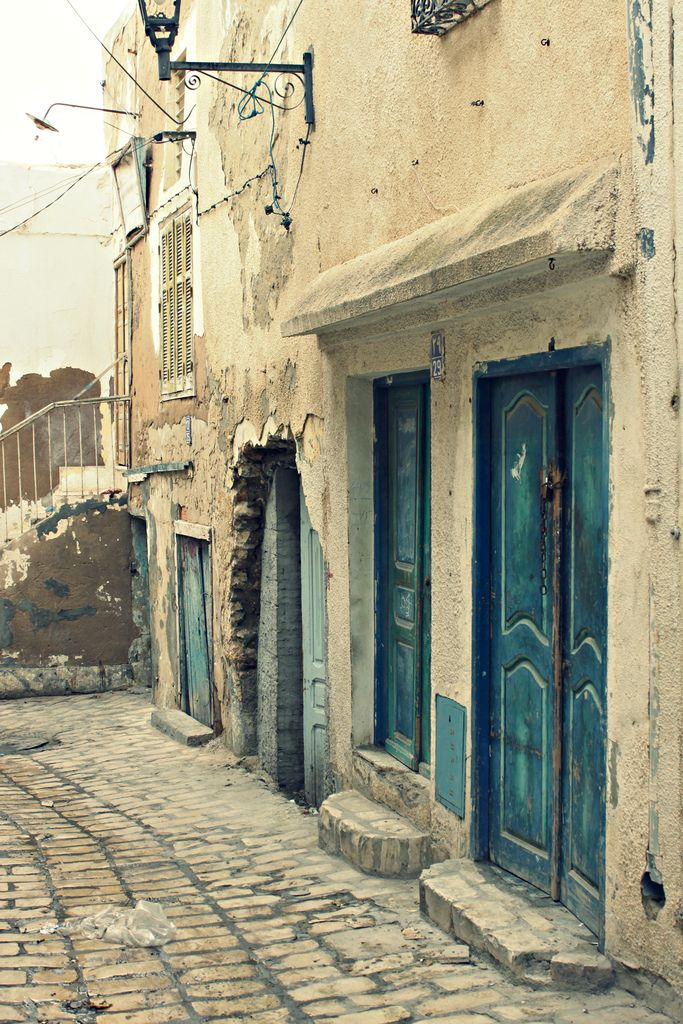 Doors in Sousse, Tunisia - reminds me of our honeymoon <3