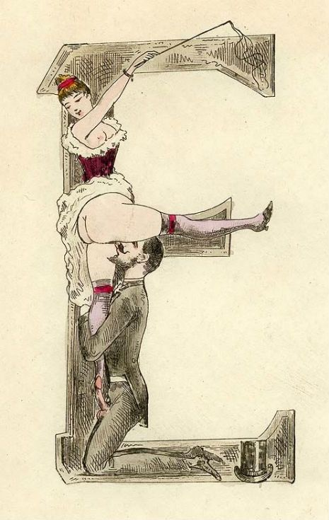 Your new favorite 19th-century naughty erotic typeface (NSFW)   Dangerous Minds