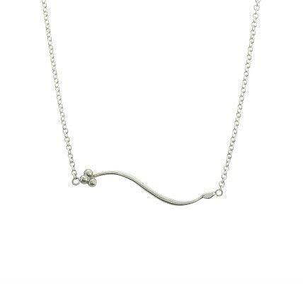 India Sideways necklace in silver - Andrea Eserin - Unique contemporary jewellery