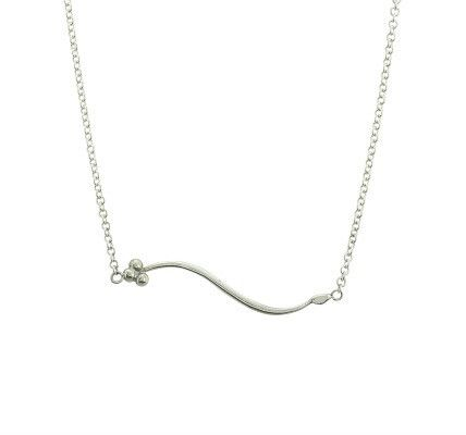 India Sideways necklace in silver - Andrea Eserin - Unique contemporary jewellery