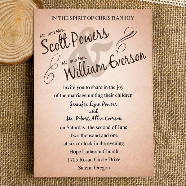 Modern Simple Neutral Wedding Invitations Online IWI254 : Wedding  Invitations Online, InvitesWeddings.com