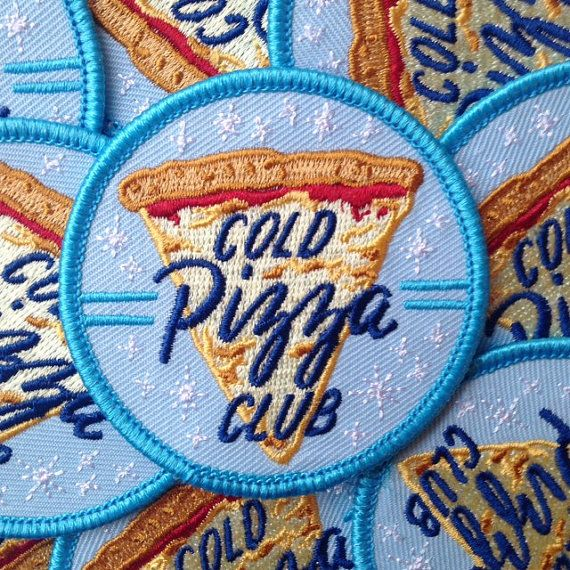 Cold Pizza Club Patch by FrogandToadPress on Etsy