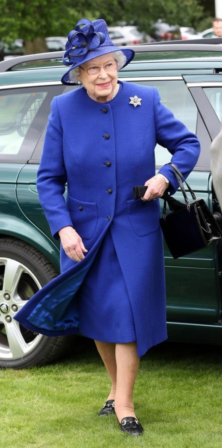 Queen Elizabeth attends the final of 'The Al Habtoor Royal Windsor Cup' at the Guards Polo Club near Windsor in London. 6-23-2013