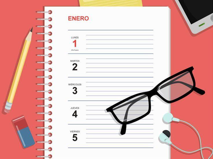 Agenda 2018 Plantilla Gratis para Imprimir   CEVAGRAF SCCL