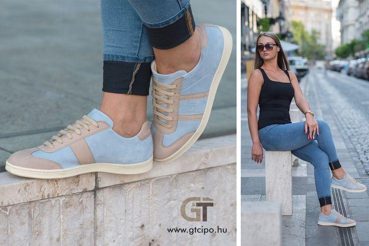 G&T Azúr - Bézs bőr sportcipő - tökéletes nyári viselet