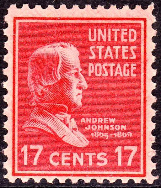 Andrew Johnson 17¢ 1938 Issue