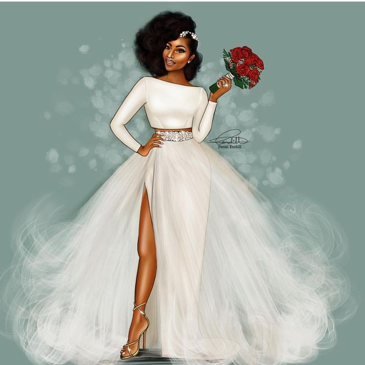 ❤️ Illustration by @peniel_enchill  #BellaNaijaWeddings