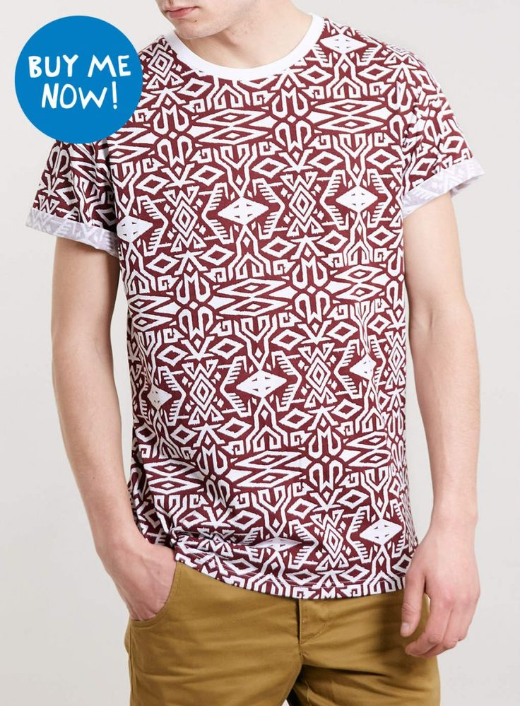 topman camiseta étnica
