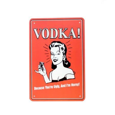 Chapa Decorativa Retro Vodka $ 119.0