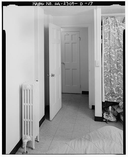 17.  Doorway to hall from bedroom. - Clark Howell Homes, Building 12-B, 516 Lovejoy Street, Atlanta, Fulton County, GA