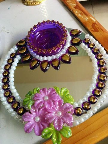 352 best images about wedding tray decor ideas on for Aarti thali decoration with clay