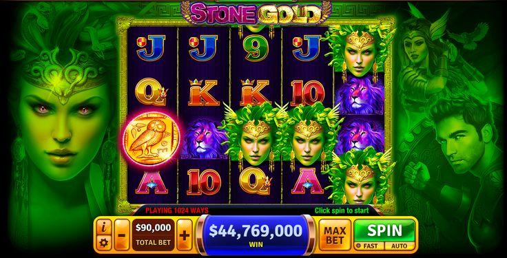 Huge Win in Stone Gold slot machine, right under Medusa's seductive eyes! :)