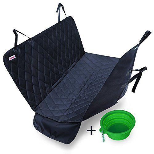 Dog Car Seat Covers with Nonslip Backing, Waterproof & Scratch proof Pet Car Seat Covers for Cars, Trucks & SUVs - Black, Machine Washable & Hammock Convertible - The easiest and most efficient way to give your furry friend a ride in your car, truck, or SUV. Protects seats from dirt, spills, scratches, hair & fur, and other messes. Built-in seat anchors & silicon nonslip backing to prevent the seat cover from sliding around, waterproof, and machine washabl...