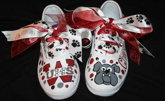 Custom Painted Girl's SCHOOL SPIRIT Cheer Dance Team Shoes Any Size on Etsy, $75.00