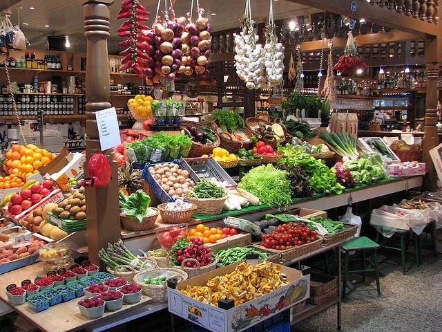 Saluhallen, Östermalm in Stockholm. A huge marketplace in Gothenburg Sweden. Started around 1850 it is great fun!