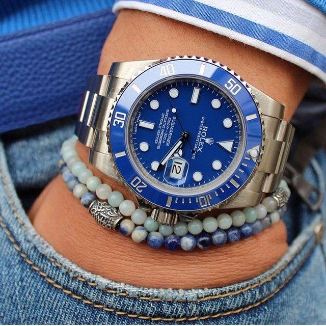 rolex submariner blue on wrist wwwimgkidcom the