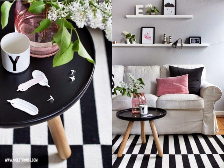 Ideas para un #salón nórdico con toque en rosa | Decoración