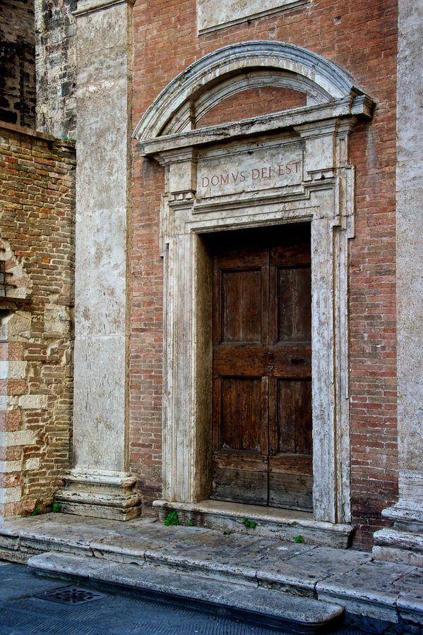 Ancient door,  Perugia, Italy